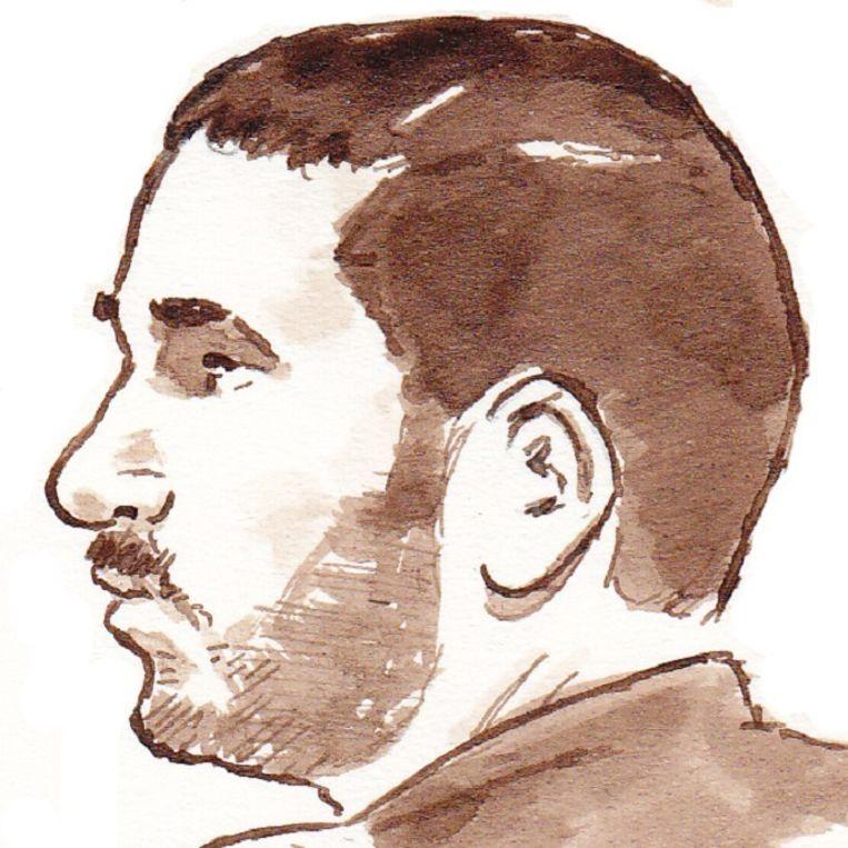 Ali Benhadi in de rechtbank van Amsterdam op 18 februari 2014. Beeld anp