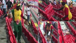 Overwinning vieren? Senegalese fans ruimen tribune op na zege tegen Polen
