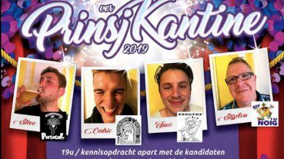 Drie kandidaten voor Prinsj Kantine