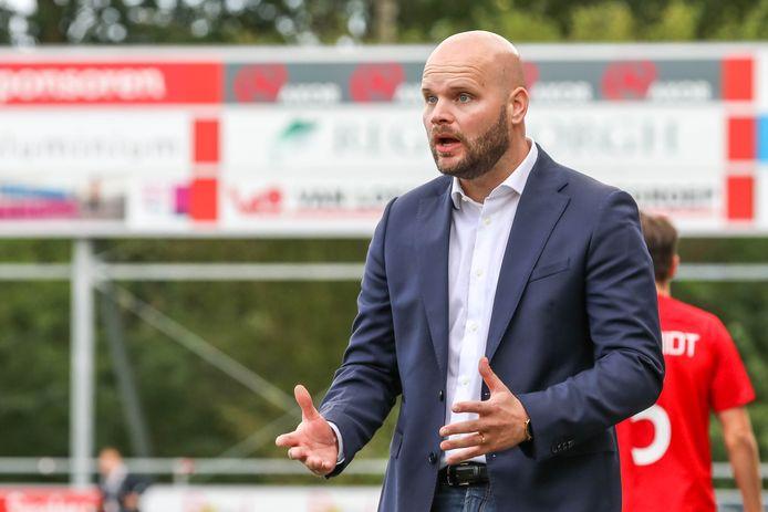 Trainer Jurjan Wouda ging met Excelsior'31 in de tweede voorronde onderuit.   Trainer/coach Jurjan Wouda (Excelsior 31)
