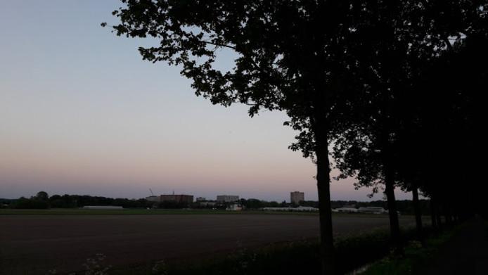 In dit gebied tussen Dijkgraaf en Wageningen Campus zou de nieuwe Campusroute komen te lopen, stelt de provincie voor