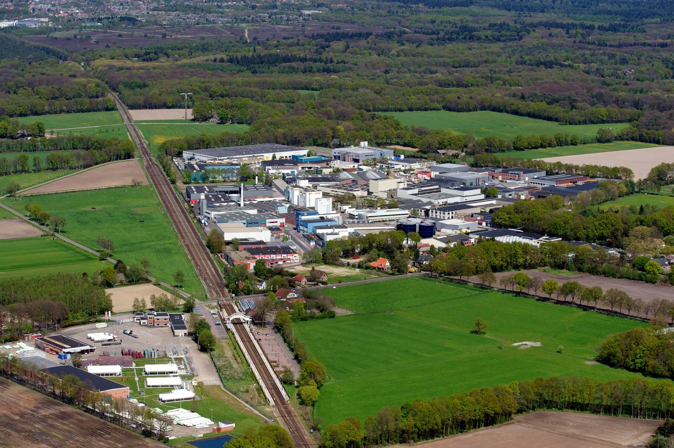 Ten zuiden van het huidige industrieterrein Keizerswoert, rechts langs de spoorbaan, zou ruimte zijn voor zeven hectare nieuw bedrijventerrein, denkt de Bedrijvenkring Putten.
