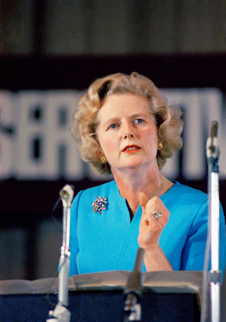 Margaret Thatcher in 1975 in Londen. Beeld ap