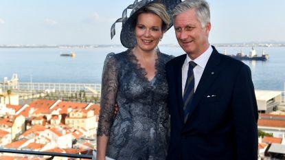 Belgisch vorstenpaar plechtig ontvangen in Lissabon