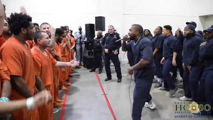 Kanye West dans la prison du comté de Harris, au Texas.
