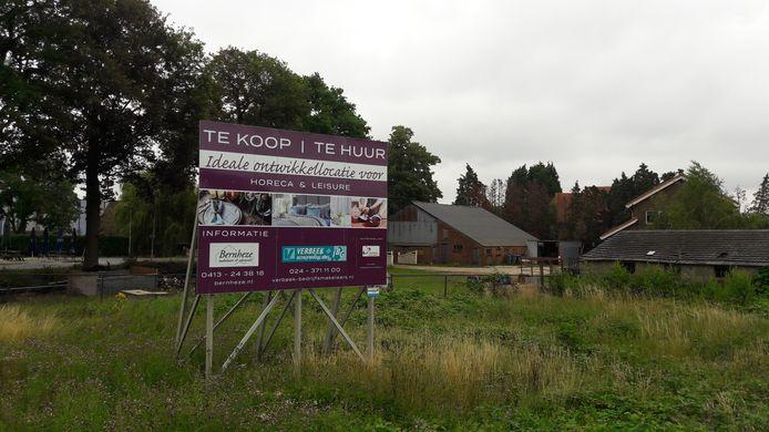 Het bord dat de locatie in Wijchen al lange tijd aanprijst.