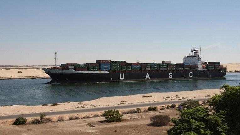 Het Suez-kanaal ter hoogte van Ismailia. Beeld anp