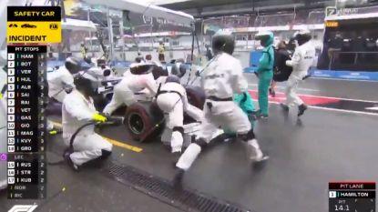 Verstappen maakt snelste pitstop ooit, maar het gepruts van Mercedes-mecaniciens tart alle verbeelding