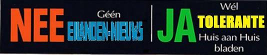 Een inwoner van Goeree-Overflakkee heeft zelf een ja/nee-sticker in elkaar geflanst.
