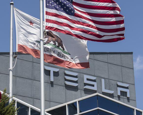 De Tesla-fabriek in  Fremont.