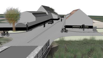 Dit wordt de nieuwe toegangsweg, inclusief nieuw plein