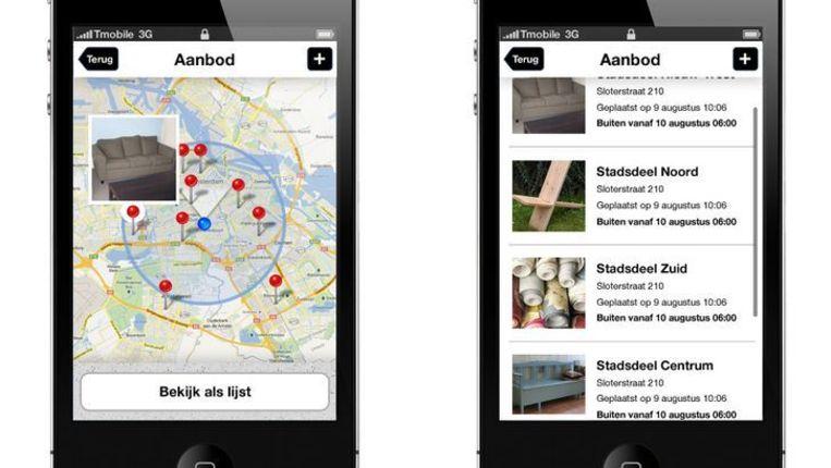 Beelden van de app Fijnvuil, winnaar in de categorie Energie Beeld Screenshot website appsforamsterdam.nl
