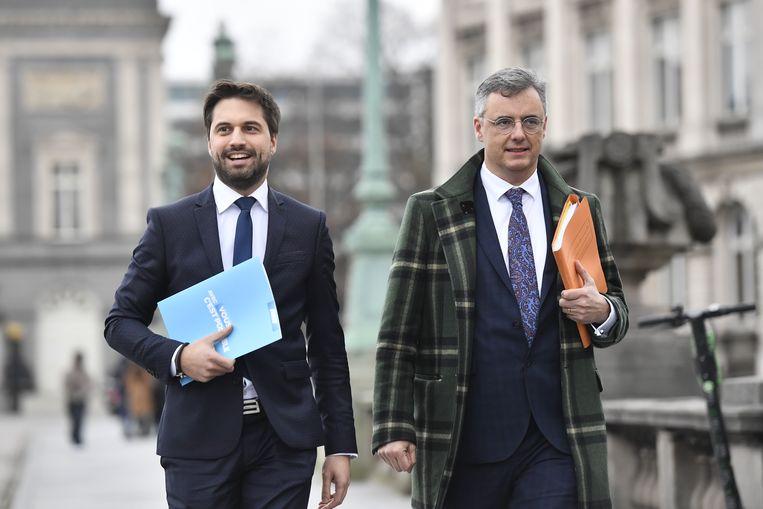 Informateurs Joachim Coens (CD&V) en Georges-Louis Bouchez (MR).