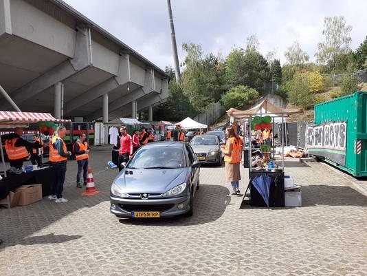 De Deur Rij Mert bij het NEC-stadion in Nijmegen.