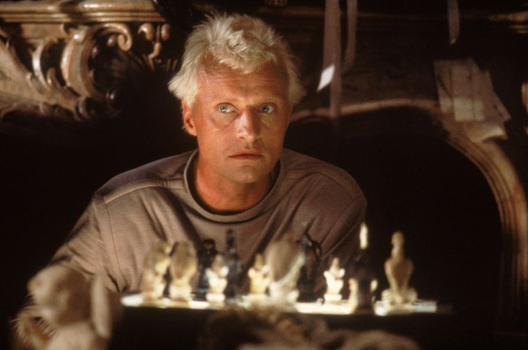 Rutger Hauer in Blade Runner. Beeld .