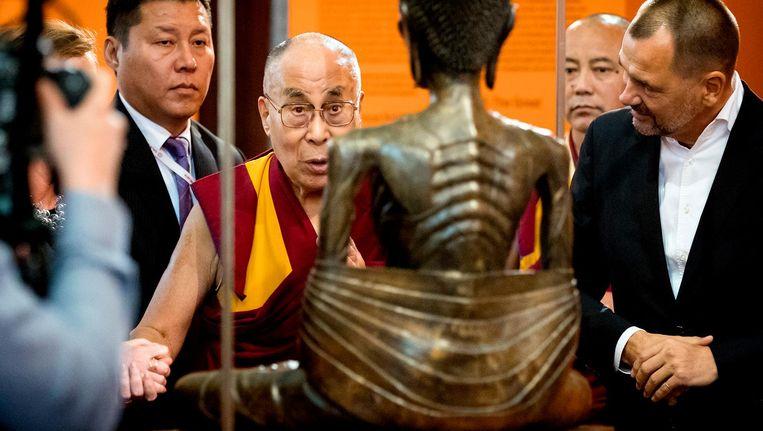De Dalai Lama in de Nieuwe Kerk Beeld ANP