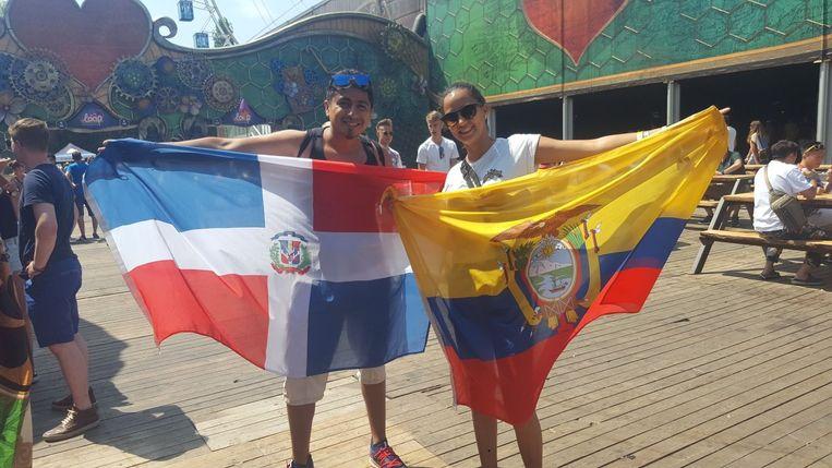 Ivan en Rumercy uit de Dominicaanse Republiek en Equador.