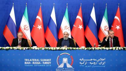 Topoverleg Iran, Rusland en Turkije eindigt zonder oplossing voor conflict in Syrië