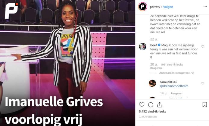 Boef reageert op een Instagrambericht