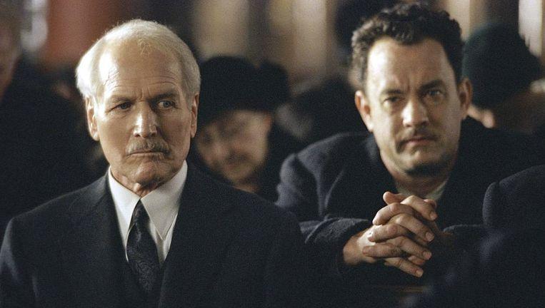 Paul Newman en Tom Hanks in Road to Perdition. Beeld null