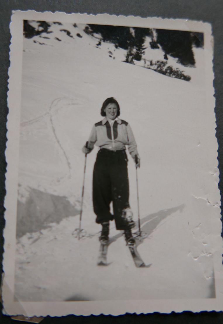 Op de ski's in Oostenrijk. Beeld