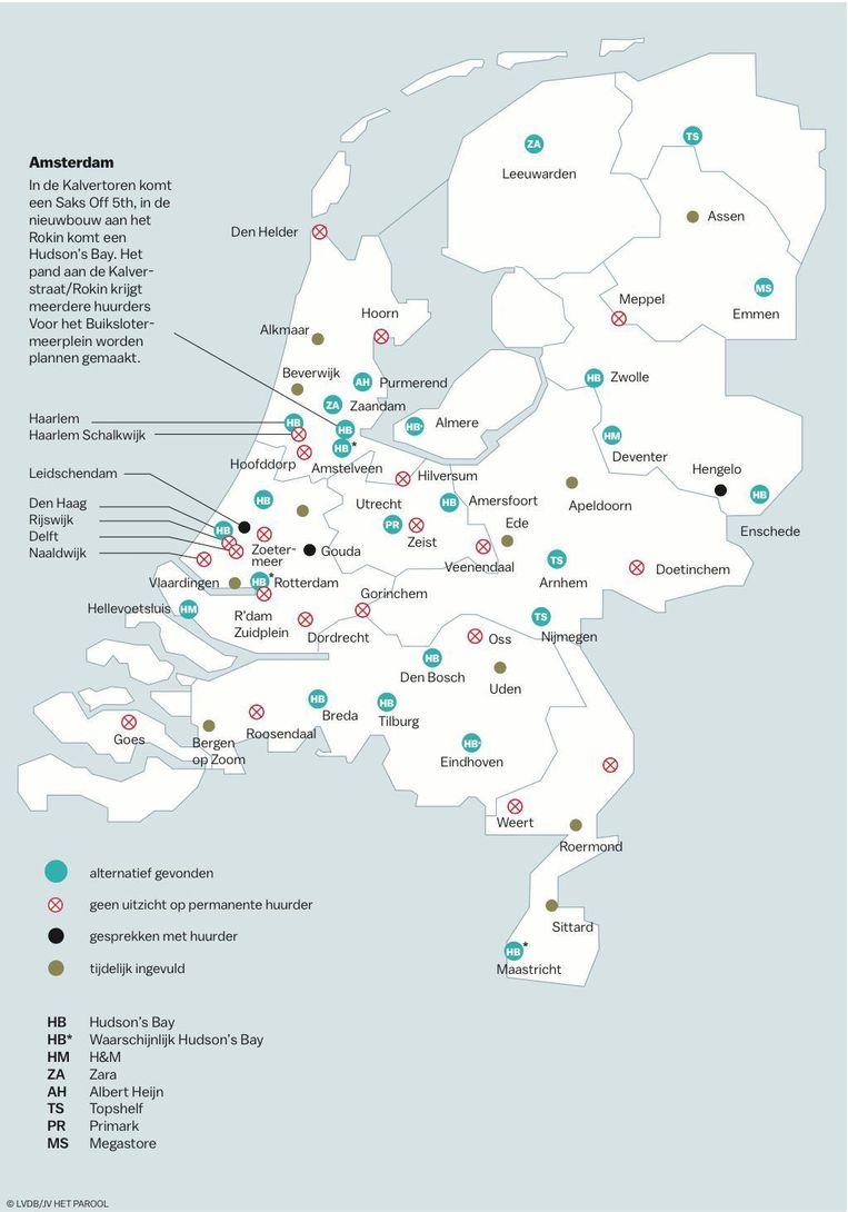 In 60 steden werd of wordt gezocht naar een nieuwe invulling van de voormalige V&D-panden. Beeld Laura Van Der Bijl