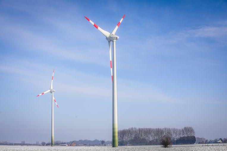 In Gistel staan al zes windturbines, sinds 2007.