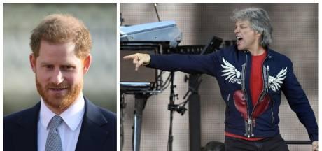 "Le prince Harry en studio avec Jon Bon Jovi: ""Je vais lui donner un tambourin"""