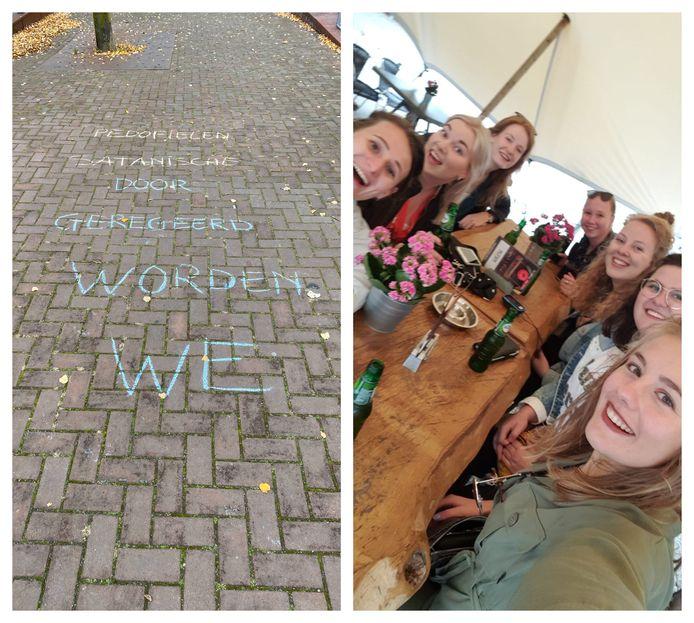 Teksten voor het gemeentehuis en de vriendinnen uit Oldenzaal en Rossum die de komende tijd centraal staan in een nieuwe serie van deze krant