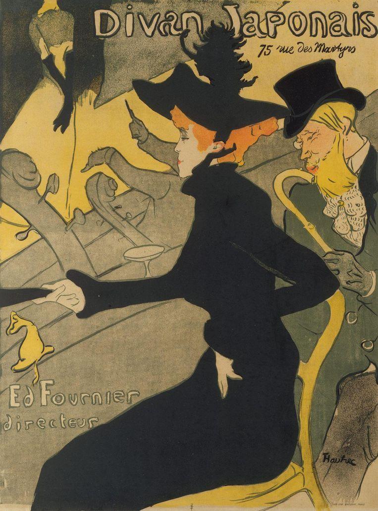 Henri de Toulouse-Lautrec, Divan Japonais 1892-'93, Van Gogh Museum Beeld Museum of Fine Arts, Boston