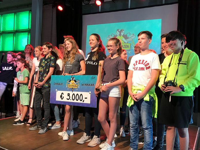 De leerlingen hebben 3000 euro gewonnen.