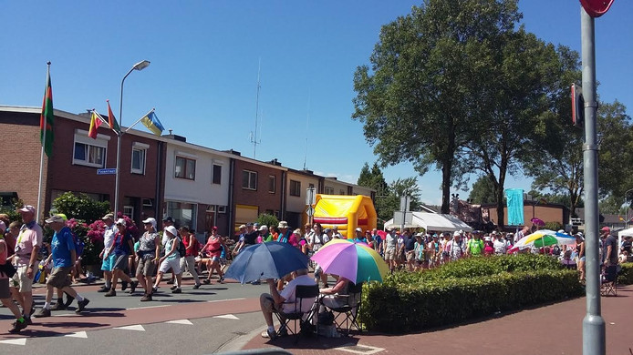 De doortocht in Beuningen.