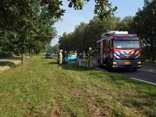 Auto vliegt in brand op N18
