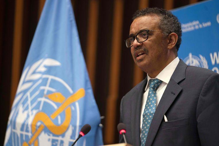 WHO-baas Tedros Adhanom Ghebreyesus. Beeld AFP