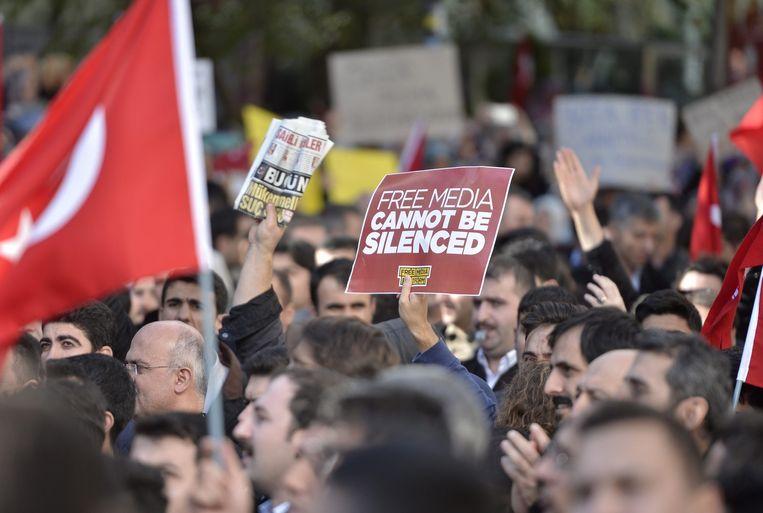Het protest tegen de overwinning van Erdogan neemt toe. Beeld epa