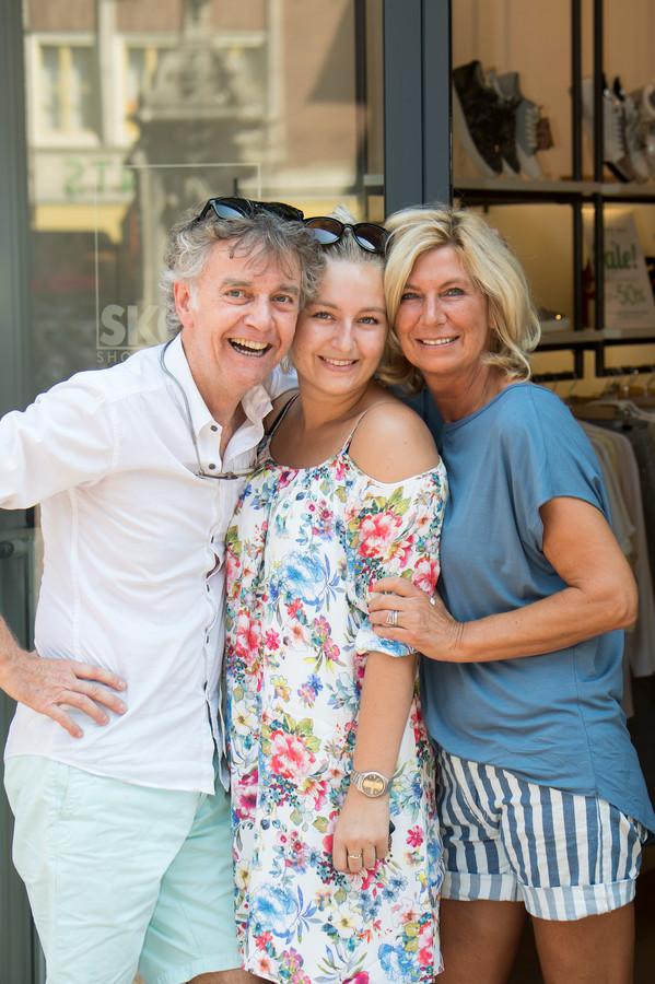 Emiel en Monique Lemmers met hun dochter Maud