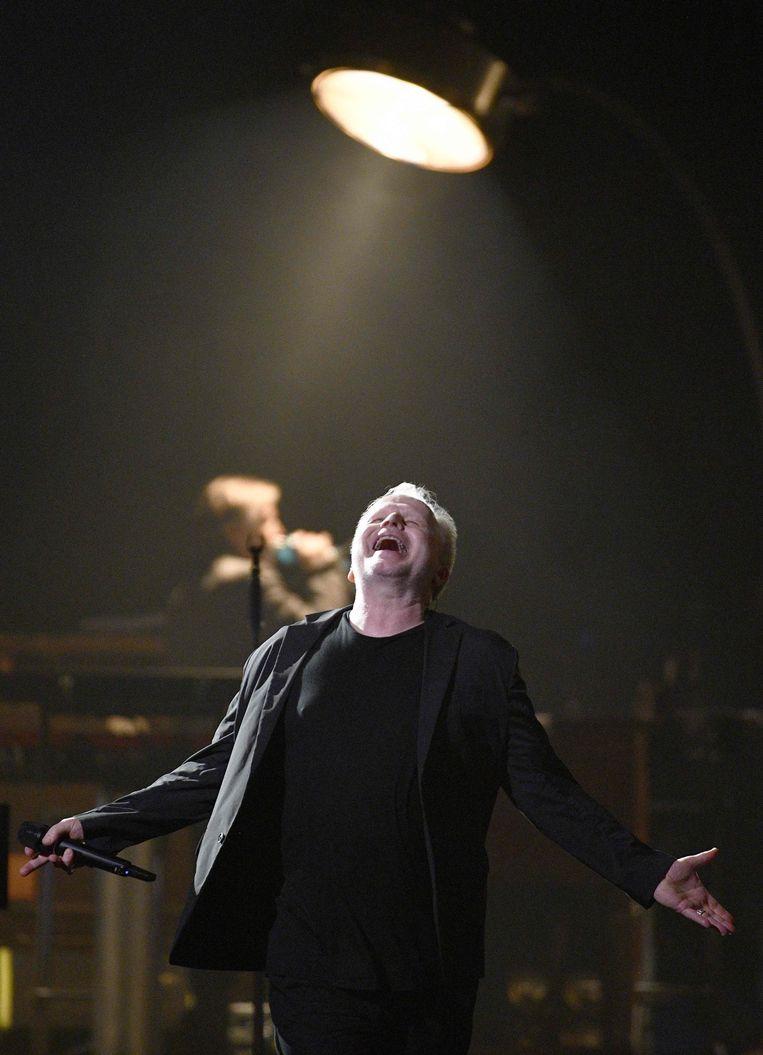 Herbert Grönemeyer, hier tijdens een concert in Wenen op 22 maart. Beeld null