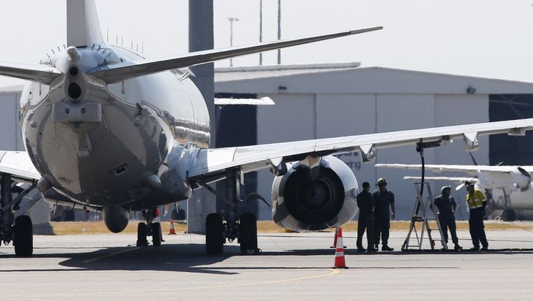 Een Amerikaans maritiem verkenningsvliegtuig mag toch niet opstijgen vanwege het slechte weer Beeld reuters