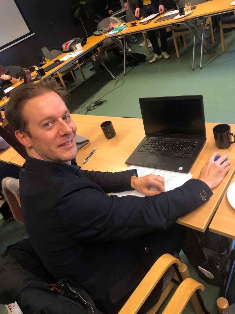 Pieter in het nationale partijbestuur van Groen.