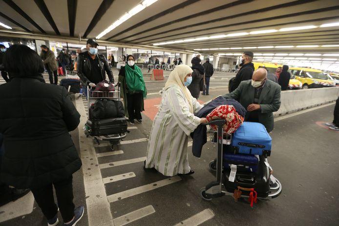 Citoyens rapatriés du Maroc, début mai, à l'aéroport de Zaventem