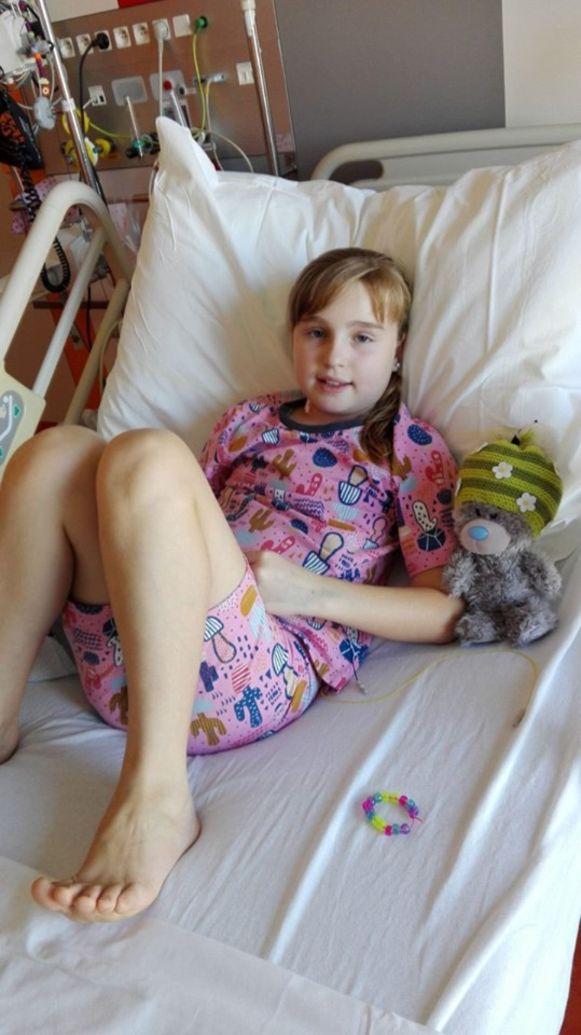 Saartje is sinds eind augustus in behandeling voor leukemie.