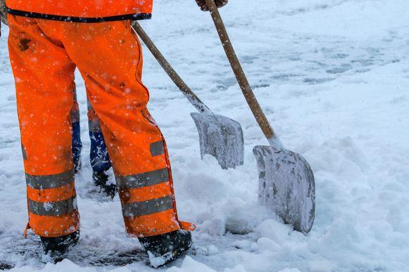 Het eten van geruimde sneeuw wordt wel absoluut afgeraden.