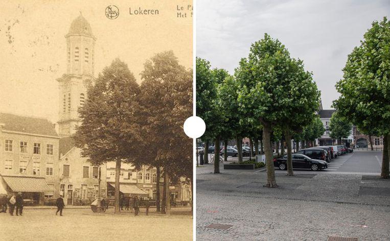 De Markt van Lokeren vroeger en nu.