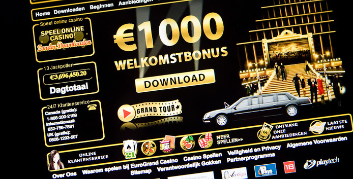 Website van een internetcasino
