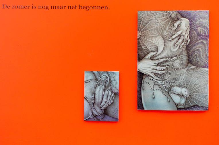 Tekeningen van Koes Staassen. Beeld