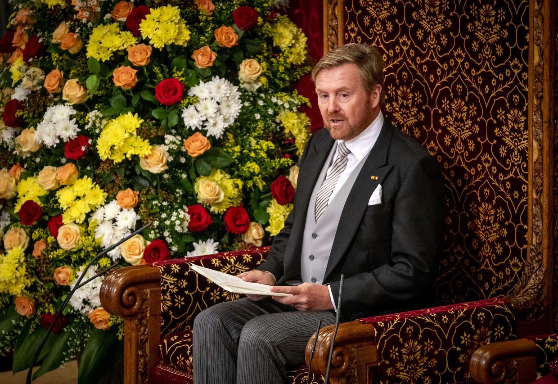 Koning Willem-Alexander op Prinsjesdag in de Ridderzaal.