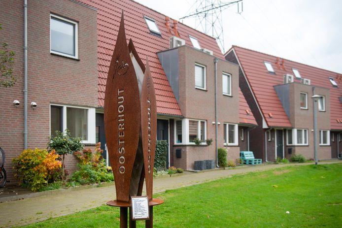 'Tabaksblad' van Gé Berns aan de Aldershof in Oosterhout.