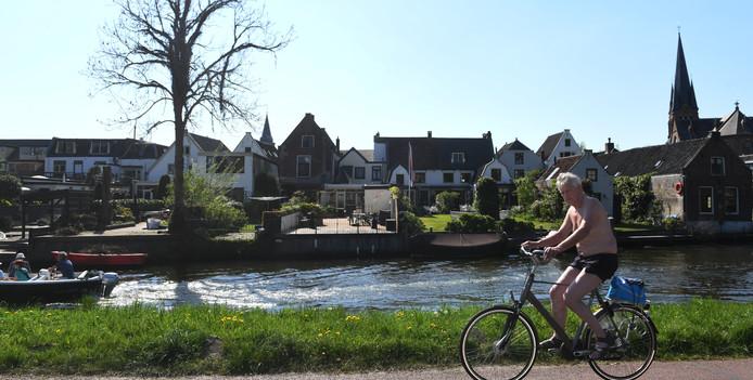 Het is heerlijk weer om te fietsen tijdens het paasweekend.