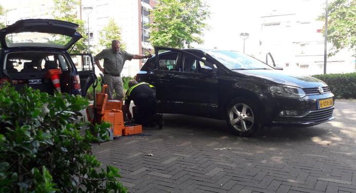 De Volkswagen Polo wordt geprepareerd voor referentieritten.
