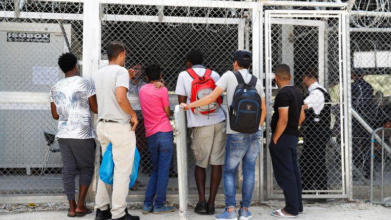 Vluchtelingen op Lesbos. Beeld epa